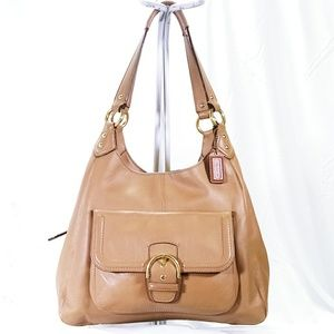 Coach Campbell Tan Leather Shoulder Bag